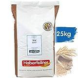 Weizenmehl 25kg Typ 405 (DE) 480 (AT) universal | Haberfellner Mehl zum Backen und Kochen - ohne Gentechnik und pestizid-kontrolliert | Geeignet als Brotmehl, Nudelmehl, Pizzamehl