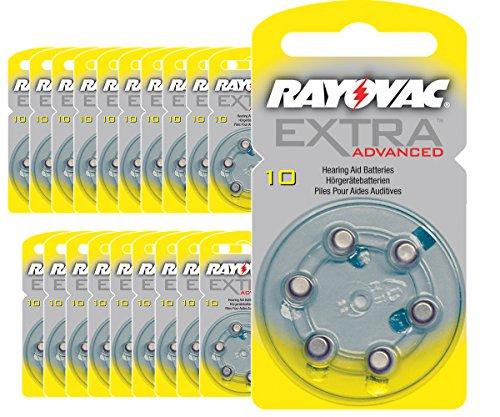 RAYOVAC - 120 PILES AUDITIVES 10 RAYOVAC