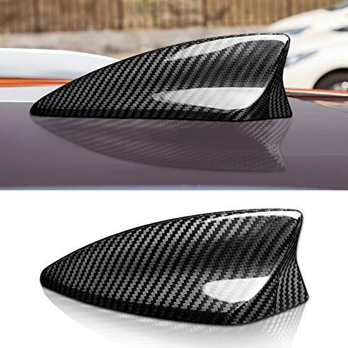 NEFELI Cubierta de fibra de carbono para antena de coche Cadillac XT4 XT5 Camaro accesorios (negro)