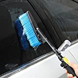 OLOPE Car Wash Brush, Car Cleaning Sprayer with Soap Dispenser, Hose Adapter Vehicle Truck Cleaning Water Spray Nozzle Car Care, for Car Home Cleaning & Garden Use (Blue)