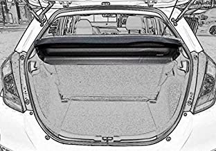 Cargo cover for 2015 2016 2017 Honda Fit Jazz Black Rear Trunk Sheld by Kaungka (Can withstand the load)