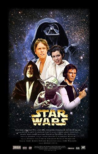 Star Wars Episodio IV New Hope 14 - Póster de película – Mejor impresión artística de calidad – Regalo de decoración de pared – A0Canvas (40/30 pulgadas) – (102/76 cm) – estirado, listo para colgar