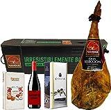 Navidul Caja con Jamón Reserva Gran Selección, Aceite de Oliva Virgen Extra y Vino Rioja Marqués de Griñón - 9500 gr