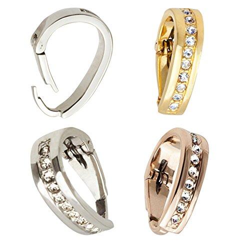 IhnSie Öse Schlaufe Anhänger Clip Diamant-Imitaten Gold Silber Rosegold (Gold)
