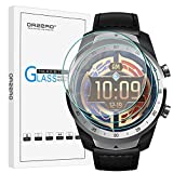 (3 Pack) Orzero Compatible for Ticwatch Pro 4G, Ticwatch Pro, Ticwatch Pro 2020 Smartwatch Tempered Glass Screen Protector, 2.5D Arc Edges 9 Hardness HD Anti-Scratch Bubble-Free (Lifetime Replacement)