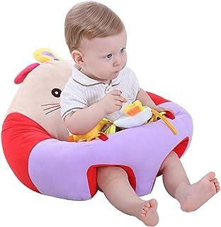 FCFLXJ Asiento de Apoyo para sofá de bebé, Animales de Dibujos Animados de Felpa, Silla para bebé, para Aprender Sentarse, Cojines para bebés de 3 a 16 Meses, Regalo antivuelco para niños