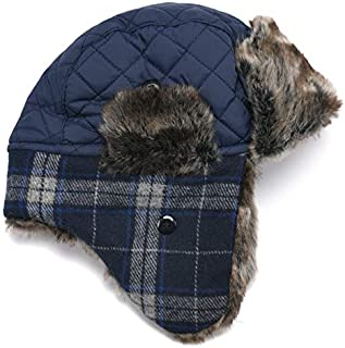 Sonemone accsa Kid Boy Earflap Pilot Trapper Hat Winter Warm Beanie Navy