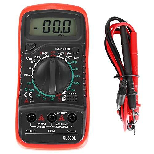 Mano auto digital multimetro batería circuito voltio ensayador DC/AC Actual resistencia autómetro continuidad capacidad diodos manual prueba eléctrico lápiz con LED mostrar(rojo)