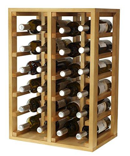 Expovinalia wijnrek voor 24 flessen, hout, licht eiken, 66 x 46 x 32 cm