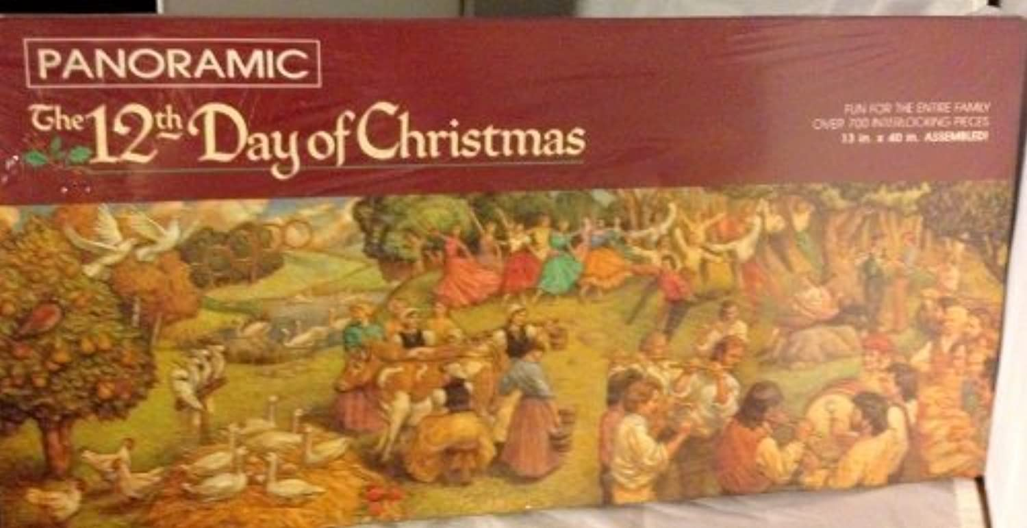 Panoramic The 12th Day of Christmas 700+pc Puzzle by Springbok