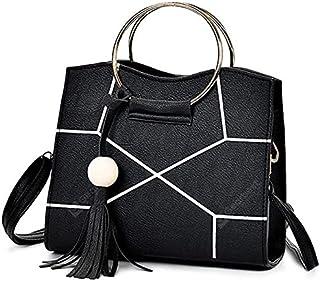 حقيبة للنساء-ابيض واسود - حقائب الكتف