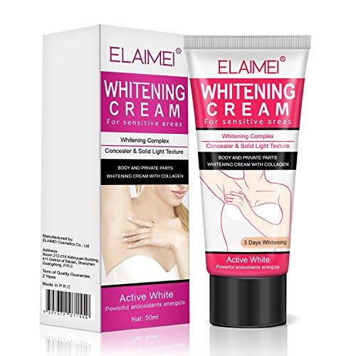Crema Blanqueadora Natural Para Axilas, Eficaz Para Aclarar Y Aclarar Axilas, Cuello,...