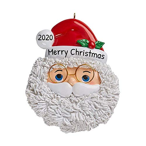 Personalized Santa Face Christmas Tree Ornament 2020 - Well Made Detailed Legend Glasses Gift Tradition Merry Magical Original Movie Grand-Kid Daughter Visit Story Grandson - Free Customization