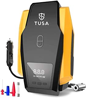TUSA Digital Air Compressor Pump - 12V Digital Car Tyre Inflator with Auto shutoff (2 Years Warranty)