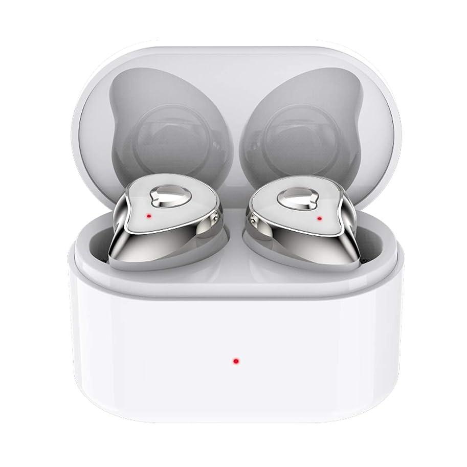 家具更新いっぱいBluetooth 5.0 ハンズフリー通話 防水 無線 ミニイヤホン スポーツ 3Dステレオサウンド 高音質 ブルートゥース イヤホン 人気 左右分離型 片耳 両耳 音量調整可能 充電式 iPhone/ipad/Android適用 収納ケース付 人気 (シルバー)