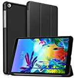 PULEN for LG G Pad 5 10.1 Case,Ultra Slim Lightweight Trifold Stand Smart Folio Case Hard Cover for LG GPad 5 10.1 Inch (Black)