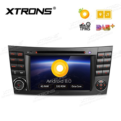 """XTRONS 7"""" Android 8.0 Octa Core 4G RAM 32G ROM HD Digital Multi-Touch Screen DVR Car Stereo DVD Player Tire Pressure Monitoring WiFi OBD2 for Benz E-W211"""