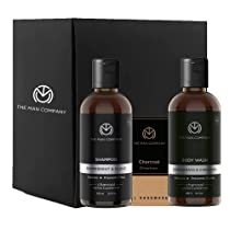 The Man Company Charcoal Detox Trio set For men (Charcoal Soap Bar Charcoal Body Wash and Charcoal Shampoo) | Made in India