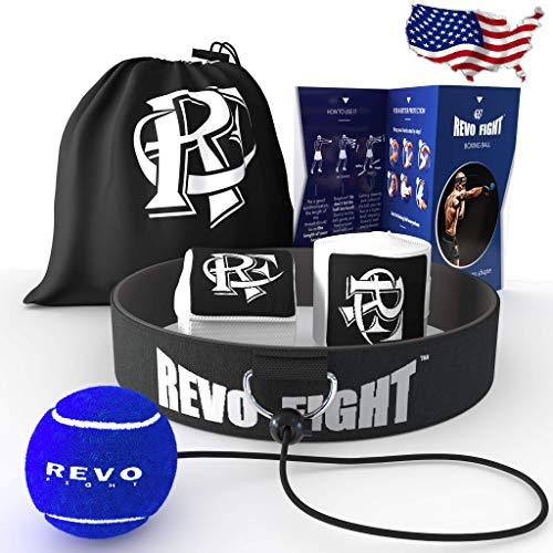 Revo Fight Upgraded Boxing Reflex Ball Premium Headband with Training Ball on String Boxing Equipment for Kids/Adults to Improve Reaction Punching Speed HandEye Coordination