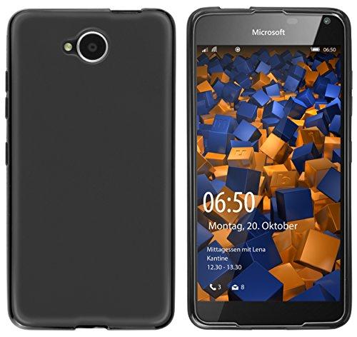 mumbi Funda Compatible con Microsoft Lumia 650 Caja del teléfono móvil, Negro