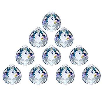 Crystal Ball Prism 40mm/1.57 Inch Decorative Ball for Chandelier Window Suncatcher 10Pack Rainbow Maker