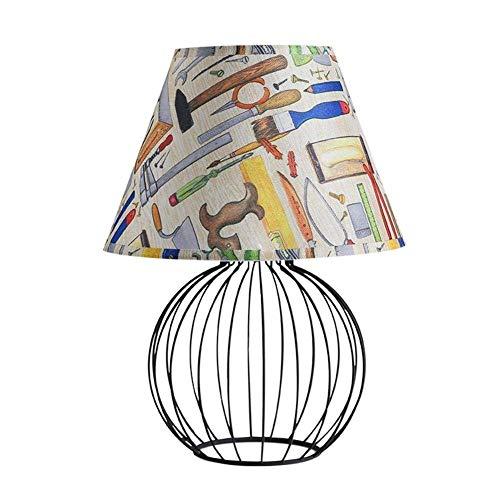 Lámpara De Escritorio E27 Pantalla Plegable De Luz Dibujo A Mano Resina...