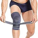 BERTER Kniebandage Knieschoner Kniestützer mit Klettverschluss Leistungsverbesserung fest ohne Rutsch