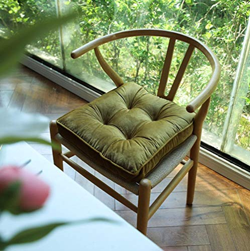 Cratone Chair Cushion 40 x 40 cm Seat Cushion Decorative Cushion Garden Cushion with Ties for Dining Chair Garden Chair Outdoor Chair Pad (C)