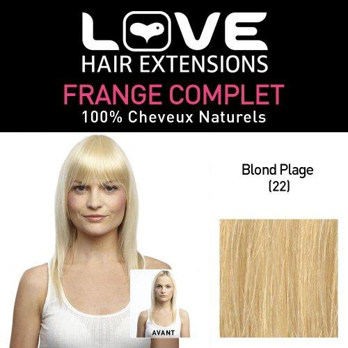 Love Hair Extensions - LHE/FRA1/QFC/CIF/22 - 100 % Cheveux Naturels - Frange Complete - Couleur 22 - Blond Plage