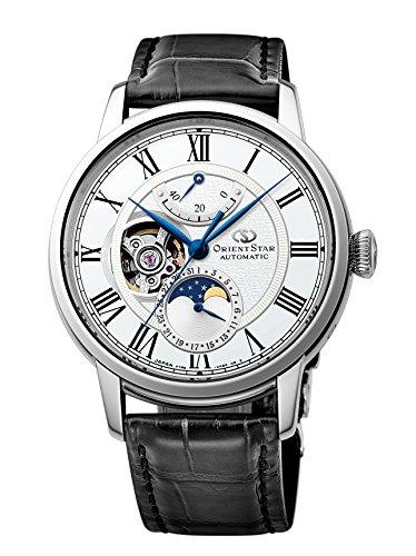 [オリエント時計] 腕時計 オリエントスター メカニカルムーンフェイズ 機械式 自動巻(手巻付) ホワイト RK-...