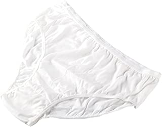 Starly Women's Disposable 100% Pure Cotton Underwear Travel Panties Granny Briefs White (10Pk)