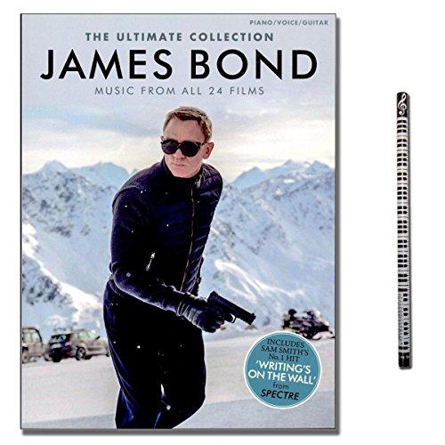 James Bond: The Ultimate Collection - Music From All 24 Films arrangiert für Klavier, Keyboard, Gitarre und Gesang [Musiknoten - Ausgabe November 2015] mit Musik-Bleistift