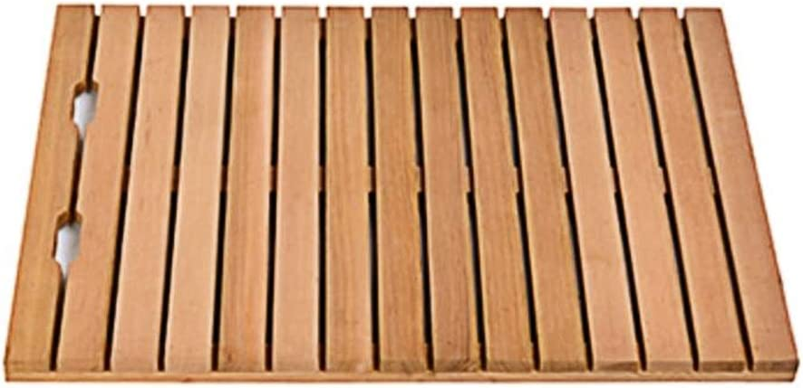 70% OFF Outlet XXIOJUN Bamboo Floor Mat Super special price Shower Design Slatted Hollow Out Thick