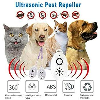 YRUFE Répulsif Ultrasonique Portable, Répétitions Ultrasoniques 3 en 1, Répulsif Extérieur pour La Prévention des Parasites pour Les Araignées Moustiques (2PCS)