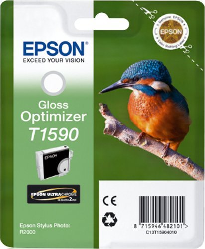 Epson T1590 inktcartridge ijsvogel, singlepack, high gloss gloss optimizer