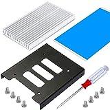 Marco de montaje para Dos Discos Duros SSD HDD de 2.5' a 3.5' con Disipador de calor de aluminio para SSD de 2.5'