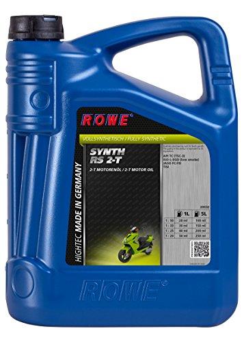 ROWE - 5 Liter HIGHTEC SYNTH RS 2-T Roller Motorenöl - 2-Takt Rolleröl Motoröl für luft- und wassergekühlte 2-Takt Motoren