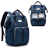 Diaper Bag Backpack,with Fast Bottle Warmer,Travel Baby Bags for Mom and Dad Maternity Diaper Bag for Girls, Large Capacity Waterproof Bag with USB Charging Port