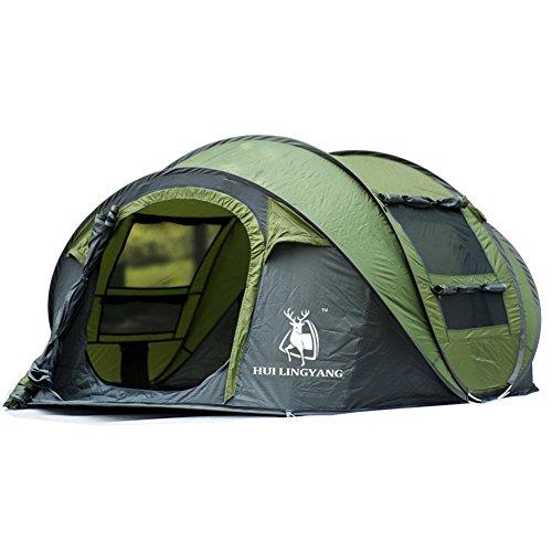cloudwhisper 3–4Personen Automatische Open Air Speed Spielen Pop Up Beach Zelt wasserdicht winddicht Zelt groß Platz, armee-grün