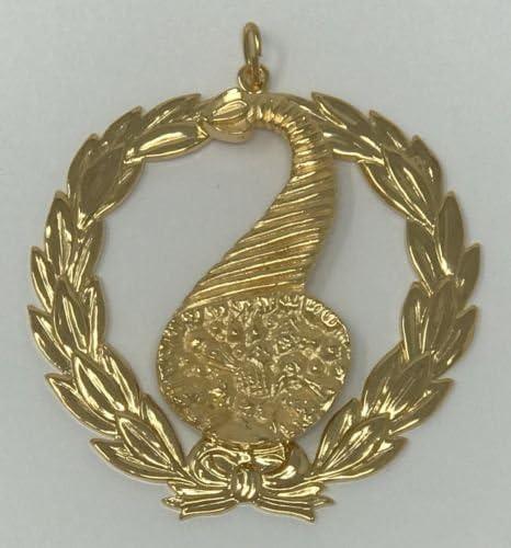 Freemason Masonic Grand Steward Collar Jewel in Gold Tone