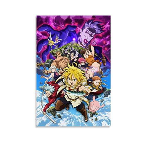 BUJI Póster de anime japonés The Seven Deadly Sins (30 x 45 cm)