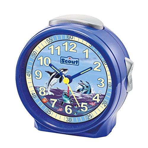 Scout Unisex Wecker und Tischuhren Analog blau 280001073