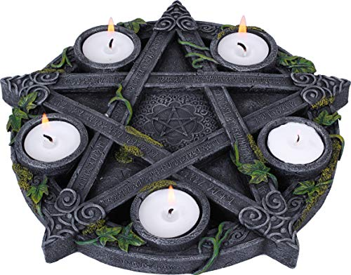 Portavelas Pentagrama Wiccano