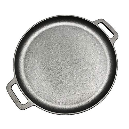 Mstr 30cm/33cm/35cm Gietijzeren Steak Pan BBQ Roosteren Vlees Roaster Rond Ongecoate Koken Pot Pizza Pannenkoek Grillplaten Flate