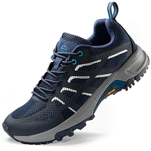 Wantdo Women's Trail Running Shoes Lightweight Hiking Shoes Runner Jogging Athletic Sneakers Navy 6.5 M US