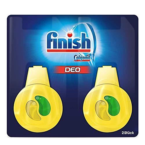 Finish Spülmaschinen-Deo Citrus und Limette – Deo für den Geschirrspüler – Gegen schlechte Gerüche – 1 x 2 Stück