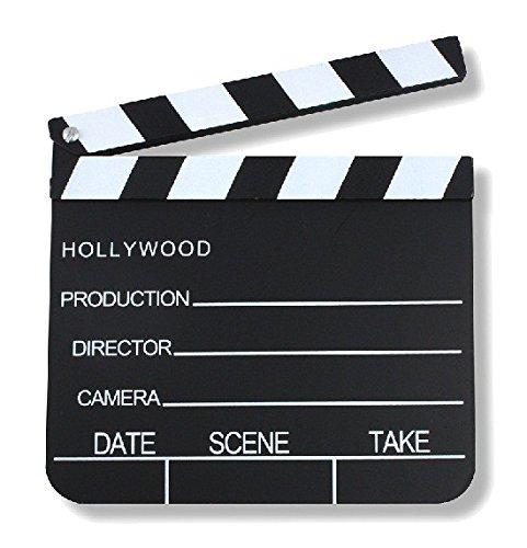 Schramm® Regieklappe 30x27cm Regie Klappe Filmklappe Szenenklappe Hollywood Kreidetafel Clapbaord Regieklappen Filmklappen
