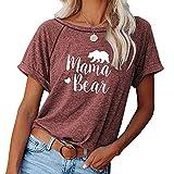 WXDSNH Tops para Mujer Impreso Cuello Redondo Primavera/Verano Camiseta Casual De Manga Corta Camisa De Ropa Kawaii para Niñas