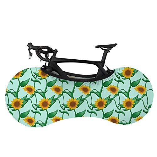 Cubierta para rueda de bicicleta de montaña, cubierta de almacenamiento para bicicleta, margarita, antisuciedad, cubierta protectora para neumáticos de bicicleta de montaña, cubierta de polvo elástica, para coche, ropa de coche, apta para 24 – 29 pulgadas