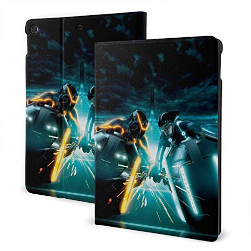 TRON Legacy Case Fit Tablet IPad 7th 10.2' con Auto Sleep/Wake Ultra Slim Funda de cuero ligero soporte